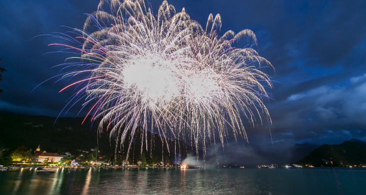 Pyroconcerts in Talloires